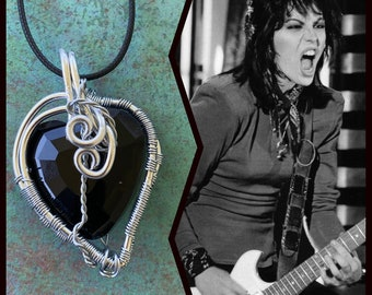 Joan Jett Inspired Wire Wrapped Necklace and Earrings Set