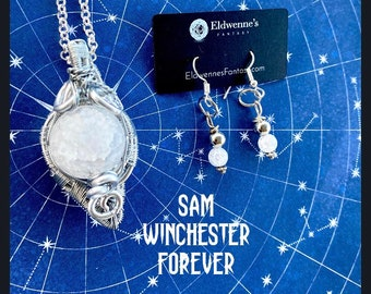 Supernatural Jewelry - Sam Winchester Forever - Supernatural Necklace Sam Winchester Necklace Wire Wrapped Necklace