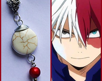 Todoroki - My Hero Academia inspired Wire Wrapped Necklace - Fan Art