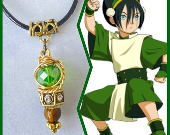 READY TO SHIP Toph - Avatar the Last Airbender Inspired Wire Wrapped Necklace