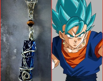 Vegeto Inspired Wire Wrapped Necklace DragonBall Z DragonBall Super Prince Vegeta Goku Fan Art Wire Wrapped Necklace