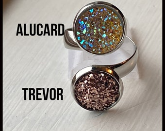 Castlevania Jewelry - Design Your Own JJK Ring - Faux Druzy Adjustable Band - Choose Trevor, Alucard, Dracula, Carmilla and more!