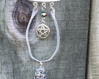 300 - 300th Episode of Supernatural Tribute Sam Winchester Dean Winchester Castiel Wire Wrapped Necklace Pentagram