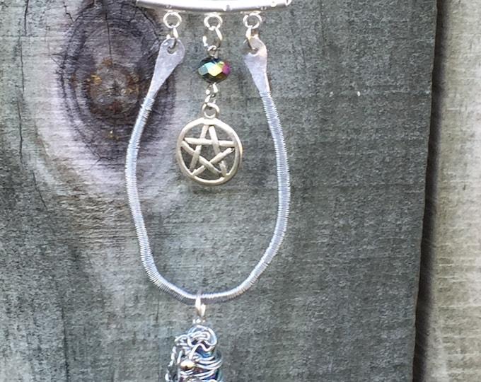 Supernatural - 300 - 300th Episode of Supernatural Tribute Sam Winchester Dean Winchester Castiel Wire Wrapped Necklace Pentagram