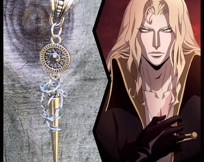 Castlevania Jewelry - Alucard - Castlevania Inspired Wire Wrapped Necklace Ready to Ship