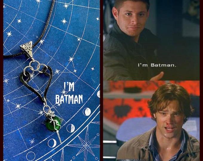 Supernatural Jewelry - Dean Winchester Necklace - I'm Batman