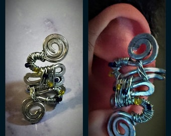 Vegeta Inspired Wire Wrapped Ear Cuff Dragon Ball - Fan Chris Sabat