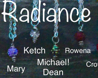 Radiance - Supernatural Inspired Necklaces - Sam Winchester Dean Winchester Castiel Baby Gabe Chuck Crowley Rowena Jack Mary Fan Art