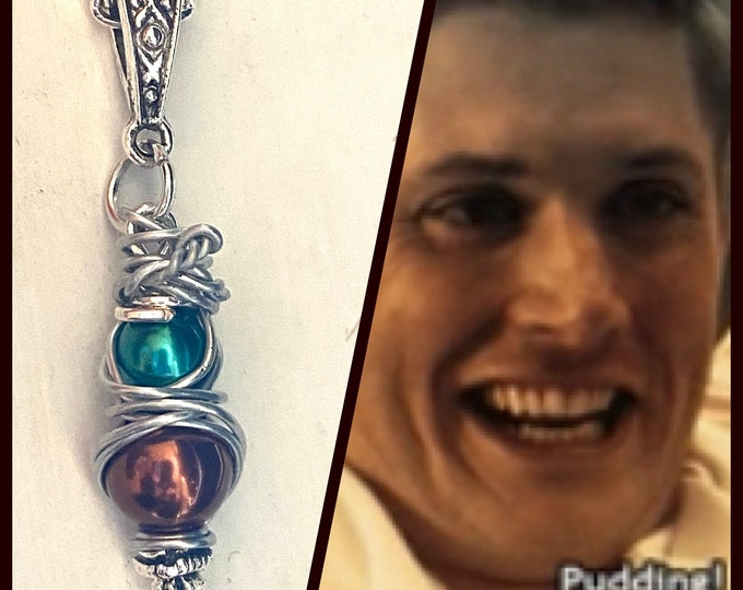 Supernatural Jewelry - Wire Wrapped Dean Winchester Necklace - Pudding!