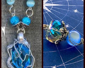 The Evolution of Castiel - Supernatural Inspired Wire Wrapped Necklace Misha Collins