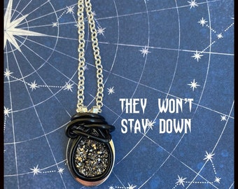 They Won't Stay Down - Supernatural Inspired Wire Wrapped Necklace Dean Winchester Sam Winchester Jensen Ackles Jared Padalecki