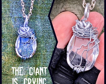 The Giant is Crying- Supernatural Inspired Wire Wrapped Necklace