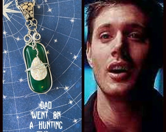 Supernatural - Dad Went on a Hunting Trip... - Wire Wrapped Necklace Dean Winchester Ready to Ship