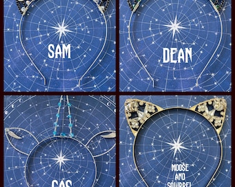 Supernatural Inspired Wire Wrapped Headbands Sam Dean Cas Unicorn Cat Ears