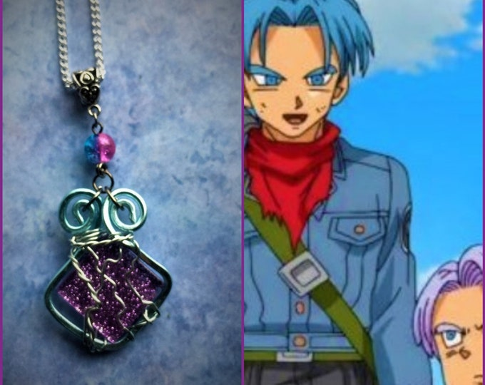 Trunks DragonBall Z DragonBall Super Trunks Fan Art Wire Wrapped Necklace