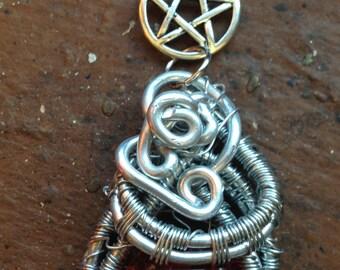 The Fire of Abaddon Necklace Alaina Huffman SPN Supernatural Pentagram