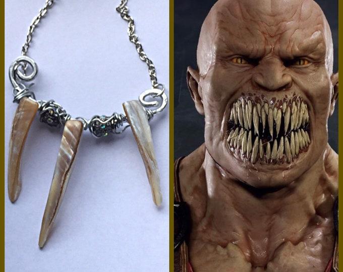 Baraka - Mortal Kombat Inspired Wire Wrapped Necklace Fan Art