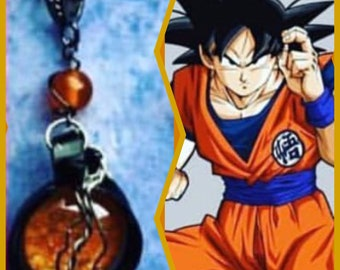 READY TO SHIP Goku Inspired Necklace Dragon Ball dbz Dragon Ball Super Wire Wrapped Sean Schemmel