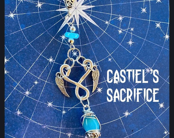 Supernatural Jewelry - Castiel's Sacrifice Wire Wrapped Necklace