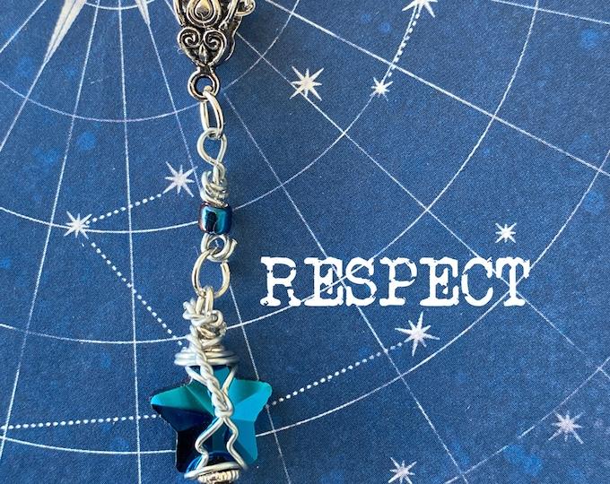 Walker Jewelry - Walker Necklace - RESPECT - Czech Glass Wire Wrapped Pendant