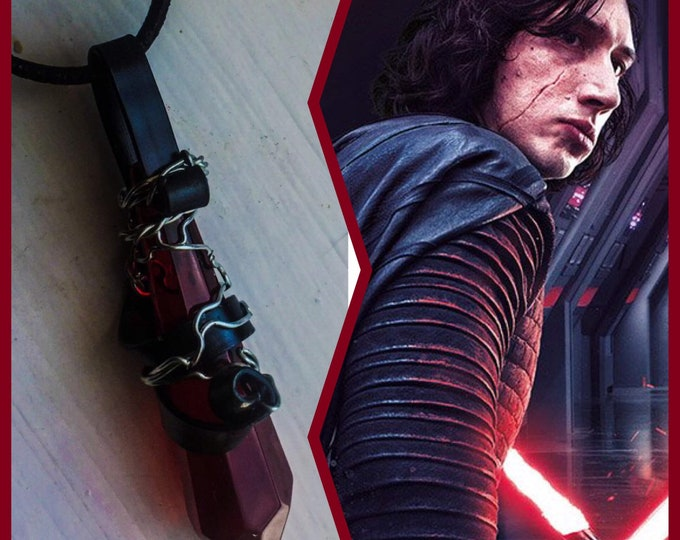 Star Wars Jewelry - Kylo Ren Necklace - Kylo Ren's Rage - Wire Wrapped Crystal Necklace