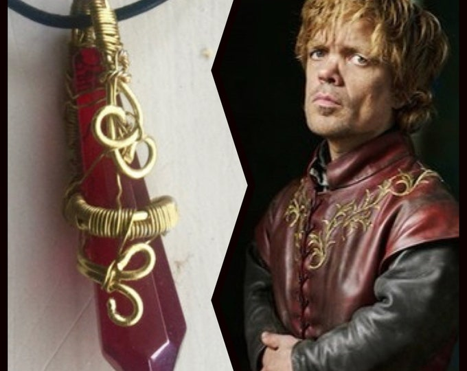 Game of Thrones Jewelry - Tyrion Lannister Wire Wrapped Crystal Necklace