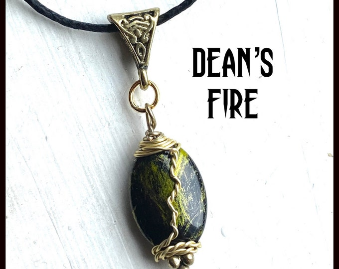 Supernatural Jewelry - Dean Winchester's Fire - Wire Wrapped Jensen Ackles Necklace