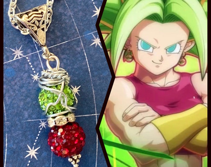 Dragon Ball Jewelry - Kefla Necklace-  Wire Wrapped Pendant