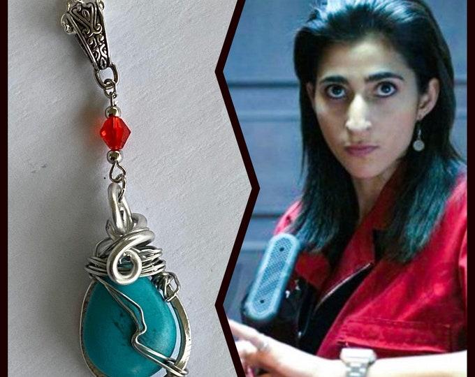 Money Heist Jewelry -  Nairobi Necklace - La Casa De Papel Money Heist Inspired Wire Wrapped Necklace Alba Flores