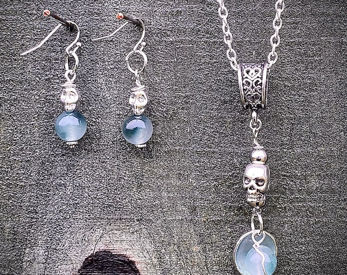 Supernatural Jewelry - The Messengers of God's Destruction - Wire Wrapped Necklace Earrings Set