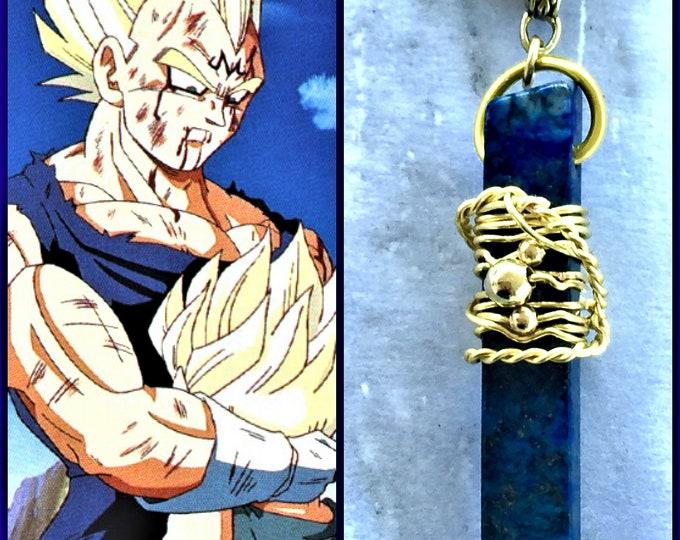 Dragon Ball Jewelry - Vegeta Necklace - Vegeta's Sacrifice - Wire Wrapped Lapis Lazuli Necklace