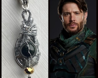 The Boys - Soldier Boy Jensen Ackles Necklace and Earrings Set - Goldstone Jewelry