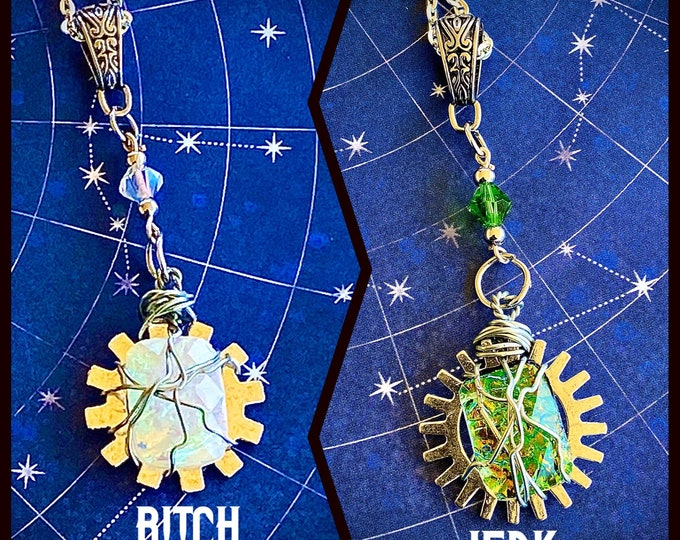 Supernatural Jewelry - Bitch Jerk - Supernatural Inspired Wire Wrapped Necklaces Sam Winchester Dean Winchester