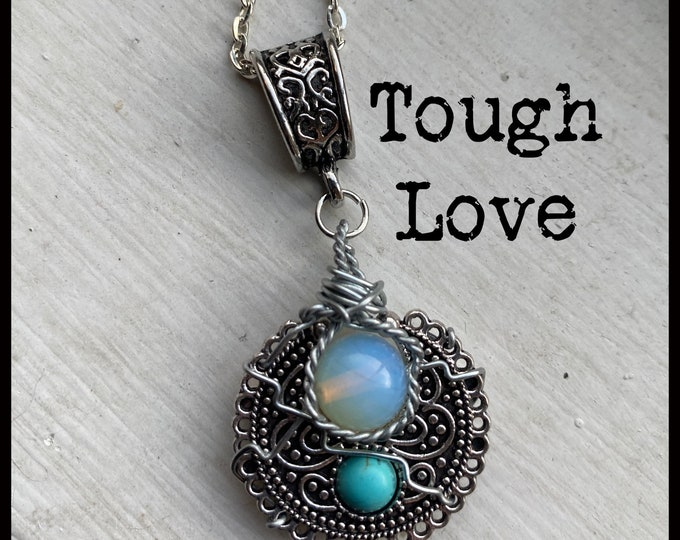 Walker Jewelry - Tough Love - Walker Necklace Wire Wrapped Necklace and Earrings set - Jared Padalecki
