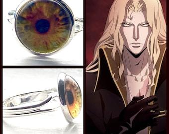 Castlevania Jewelry - Alucard Ring - Adjustable Ring - Eye Ring Castlevania Ring