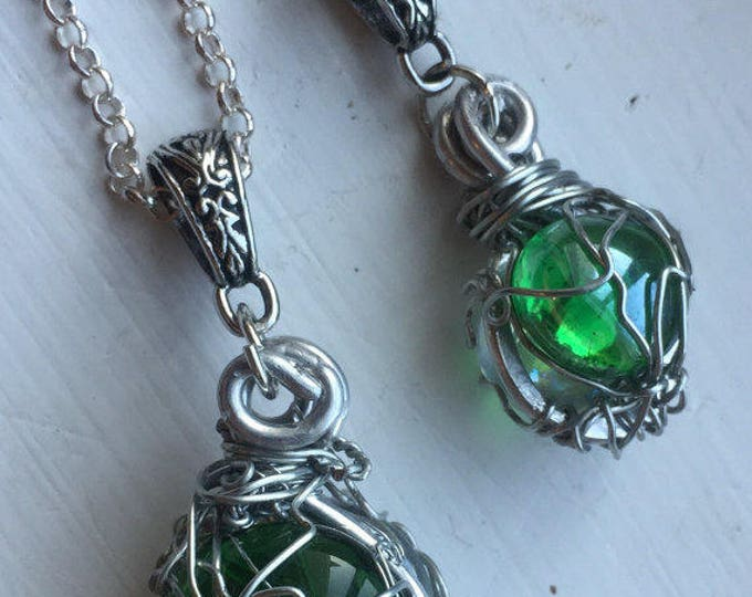 Supernatural Jewelry - Jensen Ackles and Jared Padalecki Wire Wrapped Necklace - Jensen's and Jared's True Brotherhood