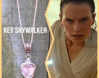 Star Wars Jewelry - Rey Skywalker - Star Wars Jewelry - Rey Necklace Rey Pendant The Rise of Skywalker Wire Wrapped Jasper Necklace Fan Art