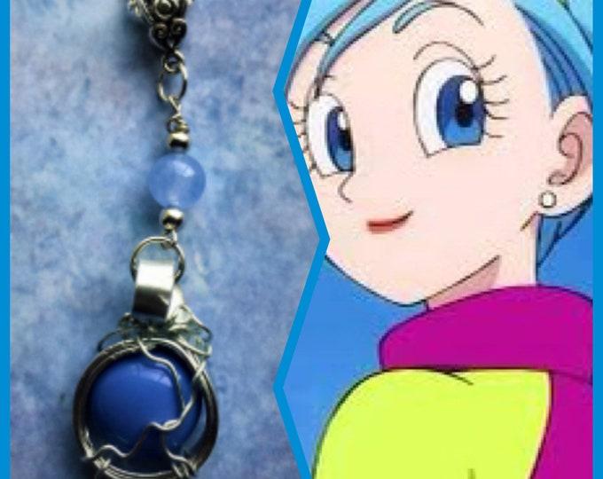 Dragon Ball Jewelry - Bulma Necklace - Wire Wrapped Dragon Ball Pendant