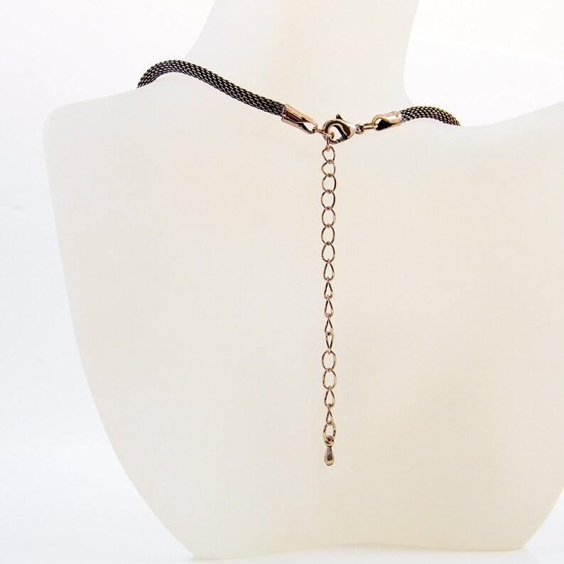 Abalone Shell Pendant Necklace; Unique Ooak design woven Pendant Oxidized Copper Wire Wrap Pendant Anniversary Gift Workplace Jewelry