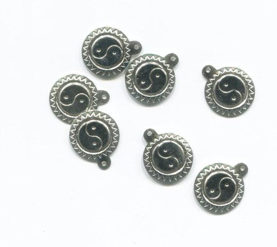 16mm ying yang charms yin yang charms sun pendants silver metal jewelry making supplies lot
