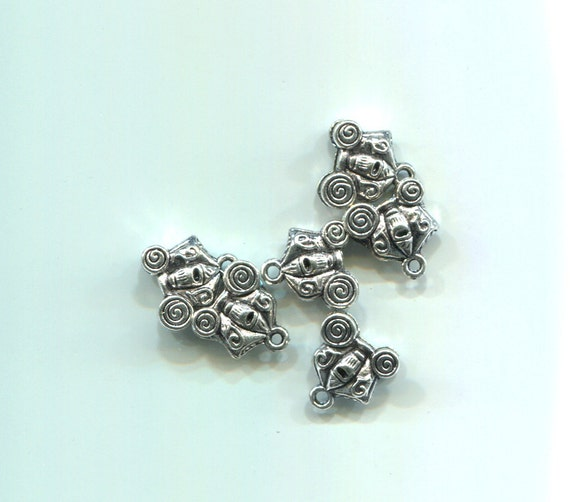 skeleton skull horse carriage charms silver metal 12mm day of the dead jewelry pendants goth biker
