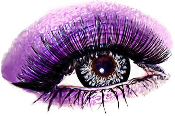 purple eyeshadow womans eye makeup art printable clip art png clipart digital download abstract beauty image graphics diy crafts cards