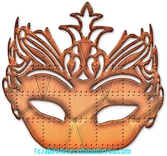 steampunk metal rivet mask printable art clipart png jpg instant download images digital downloadable modern image graphics artwork