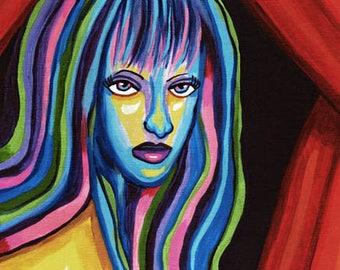 aura emotions chakra abstract woman art print wall modern home decor contemporary modern original abstract artwork