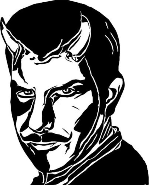 Devil Man Demons Lucifer printable art clipart png jpg digital image goth horror graphics instant downloads die cuts digital stamp black
