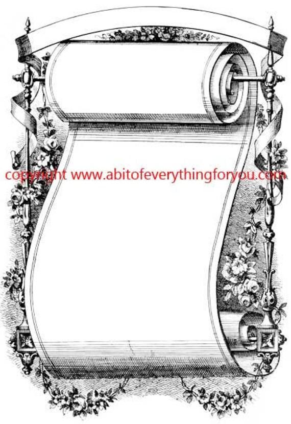 fancy scroll vintage illustration art printable clipart png digital downloadable image graphics black and white downloads