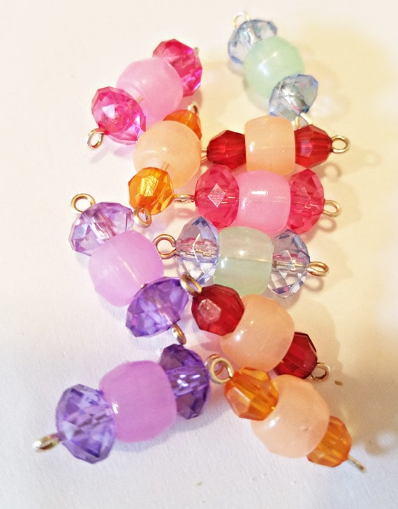 bead drops 8 glow in the dark pony bead charms pendants 20mm acrylic plastic