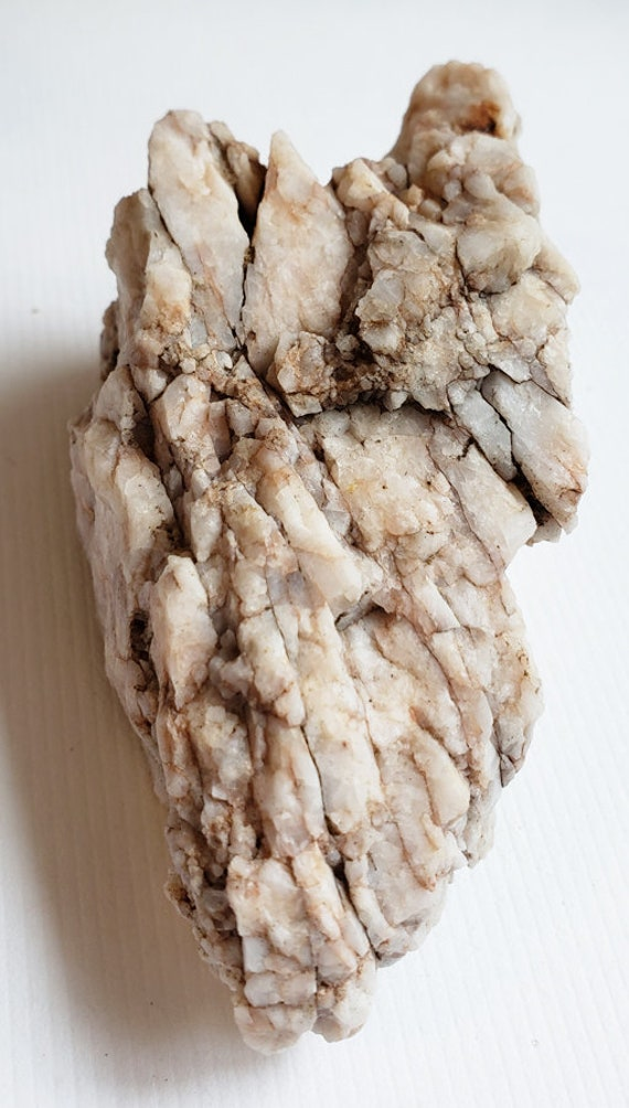 white and red milky Quartz crystal Rock nugget stone gemstone Montana 8 oz raw snow quartz minerals healing feng shui natural decor