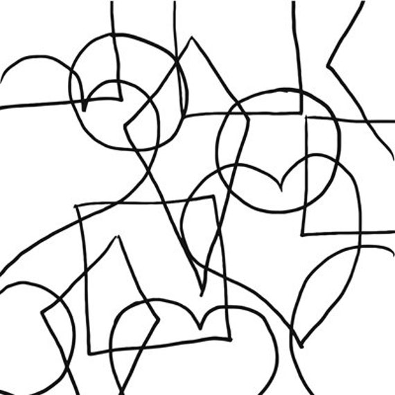 abstract geometric shapes Coloring Page printables digital download art line art coloring book digital stamp