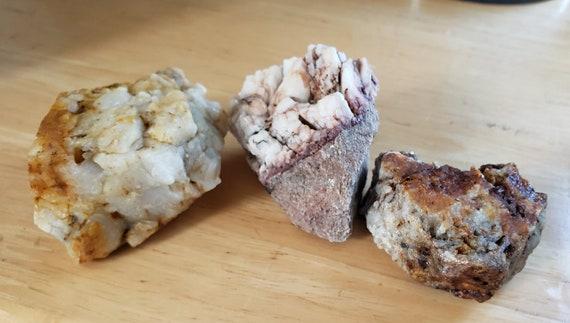 3 pc white milky Quartz crystal Rock nugget stone gemstone Montana 1lb raw snow quartz pyrite minerals healing feng shui natural decor